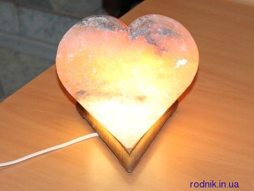 Романтичная соляная лампа Сердце 4-5 кг (Украина)