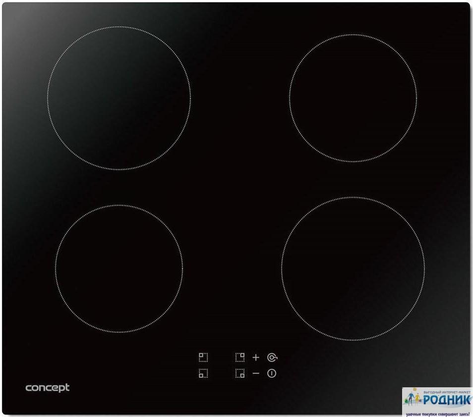 Индукционная плита на 4 конфорки Concept 6400W