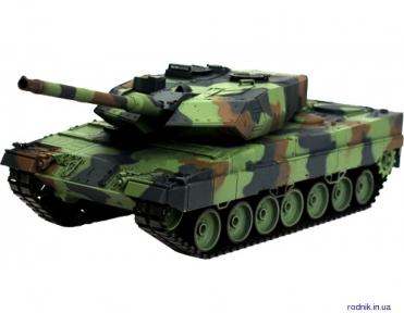 Танк Heng Long 1:16 Leopard II A6 с пневмопушкой и дымом (HL3889-1)