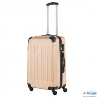 Средний чемодан на четырех колесах TravelZ Light (Шампань)